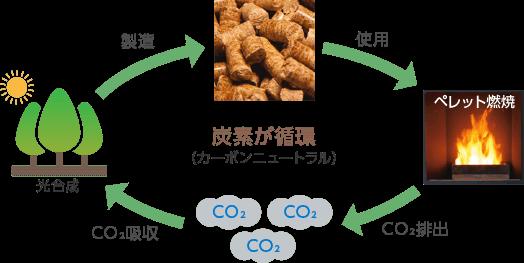 カーボンニュートラルの概念図
