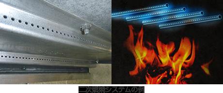 二次燃焼システムの例